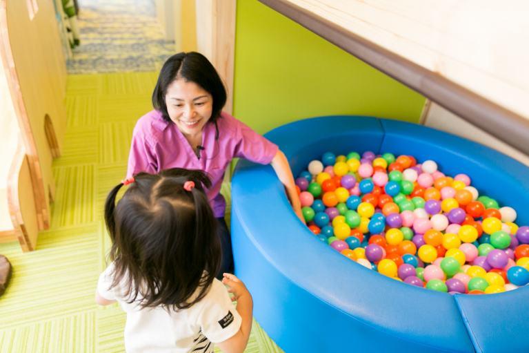 お子様が楽しく通える環境設備
